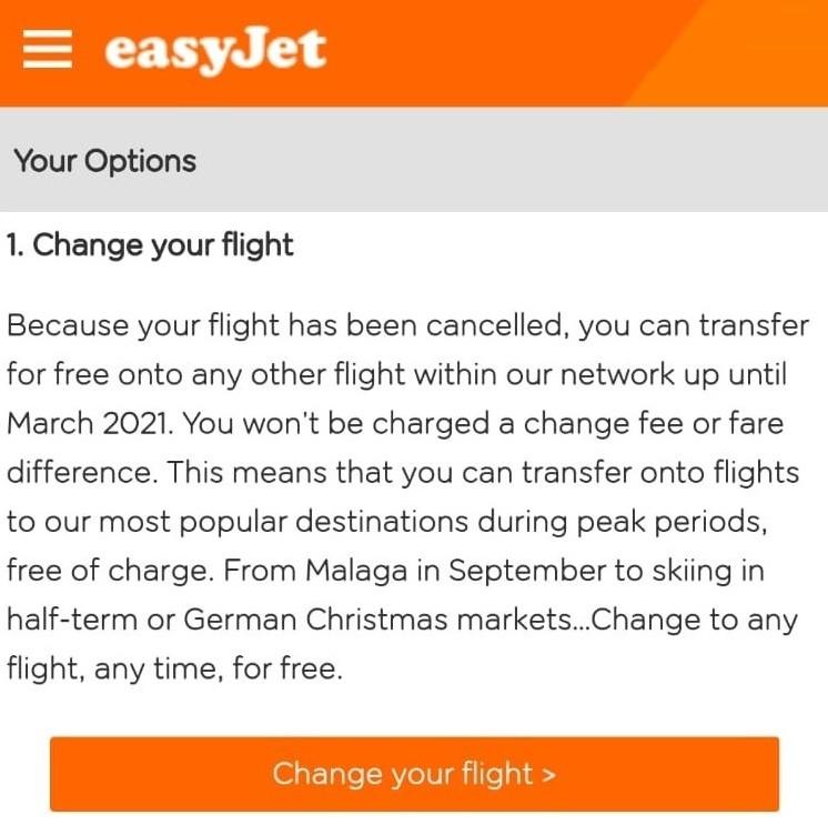 easyjet flexible change