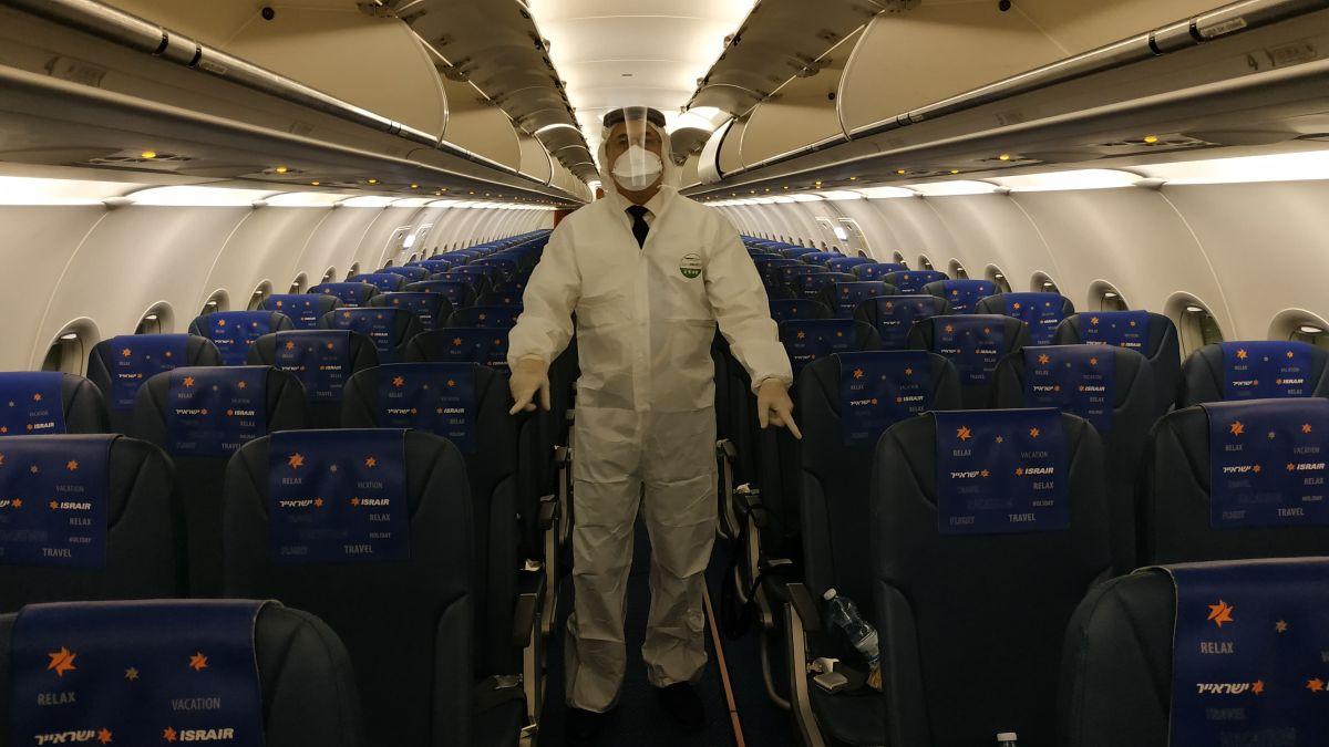 טיסת ישראייר בקורונה דייל חליפת מגן