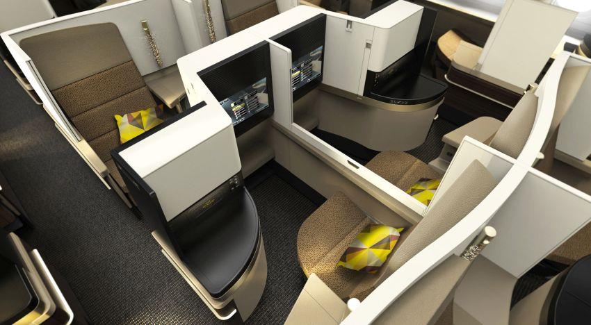 טיסות באיתיחאד - מחלקת עסקים באיתיחאד