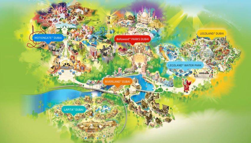 מפת הפארקים של דובאי