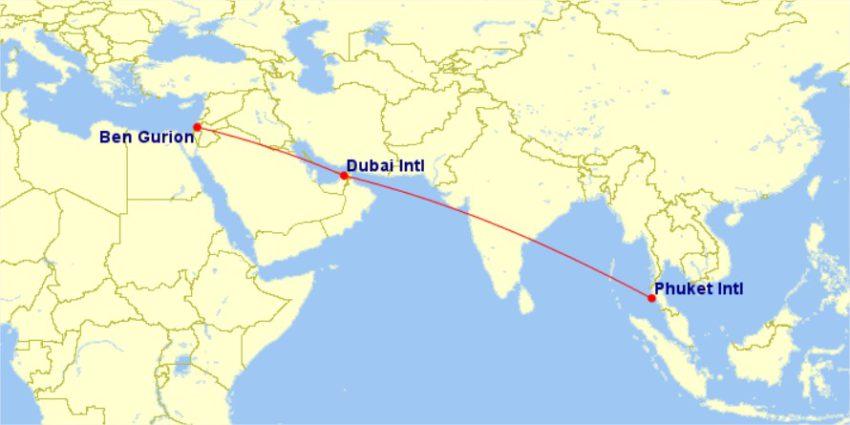 טיסות לפוקט דרך דובאי