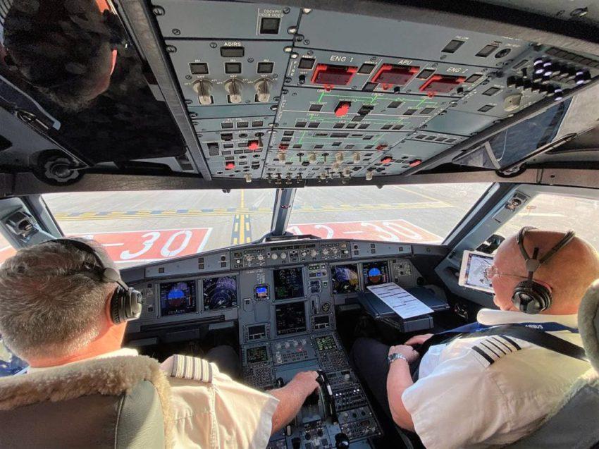קוקפיט במטוס האיירבאס