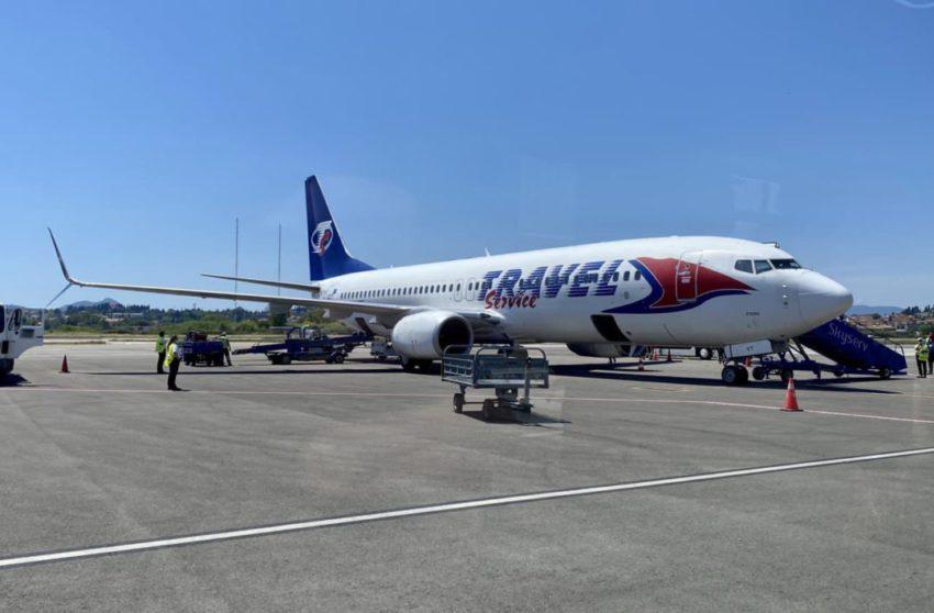 טיסת ישראייר לקורפו - המטוס של חברת טרוול סרוויס