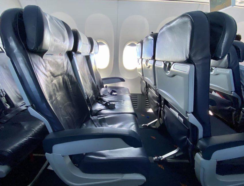טיסת ישראייר לקורפו - תצורת המושבים בטיסה