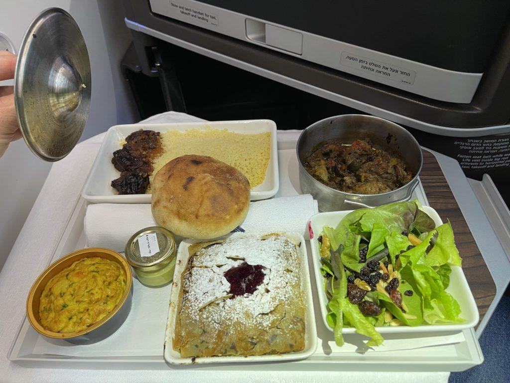 ארוחה בטיסת אל על למרוקו במחלקת עסקים