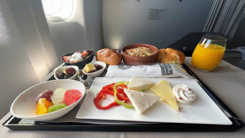 ארוחת בוקר במחלקת עסקים טורקיש